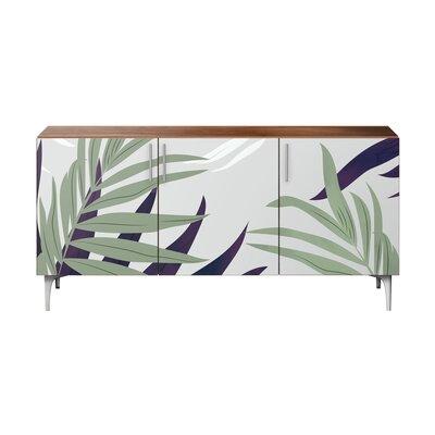 Bay Isle Home Sideboard Color Base Top Walnut Chrome