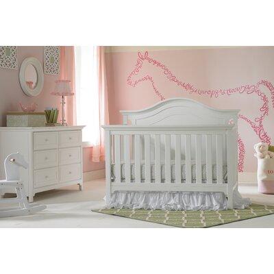 Ti Amo Convertible Crib Set Snow White