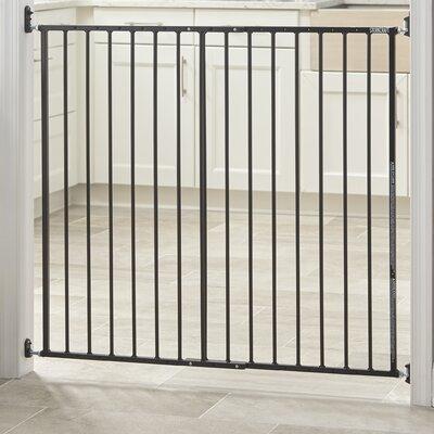 Easy Walk-Thru Tall Metal Safety Gate Color: Black 01740-12B