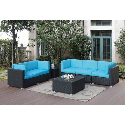 Rosecliff Heights Sofa Set Cushion Blue