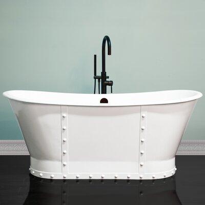 Cambridge Plumbing Rivet Double Slipper Freestanding Soaking Bathtub