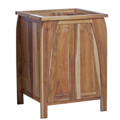Ecodecors Solid Teak Single Bathroom Vanity Base Only Ecodecors Base Brown