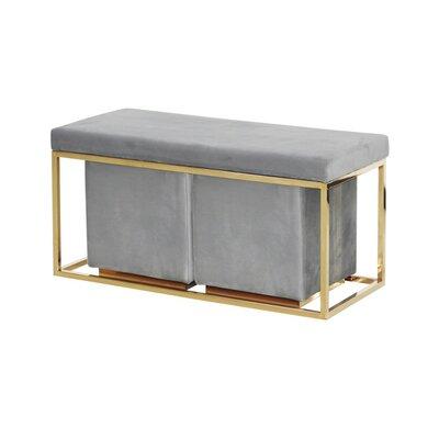 Mercer41 Metal Bench Mercer Upholstery Gray
