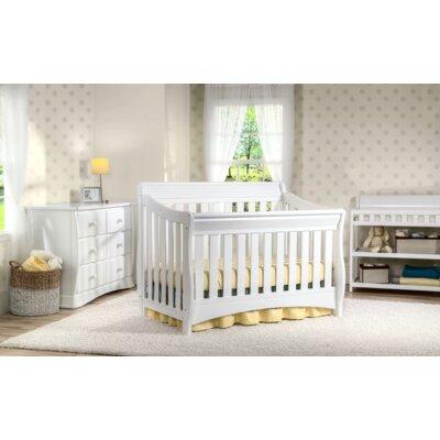 Delta Children S Series Convertible Crib Set White