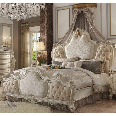 Fleur De Lis Living Upholstered Panel Bed Queen