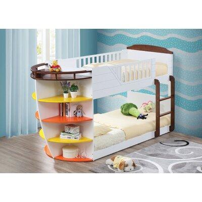 Zoomie Kids Wooden Twin Over Twin Bunk Bed