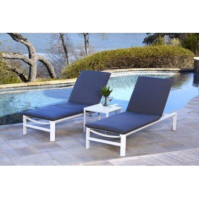 Ebern Designs Reclining Chaise Lounge Cushion