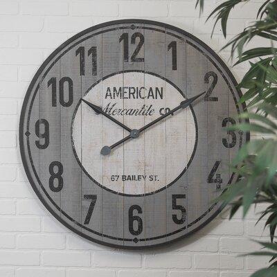 American Mercantile Farmhouse Wooden Wall Clock