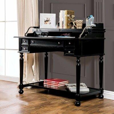 Alcott Hill Solid Wood Secretary Desk Black