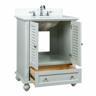 Highland Dunes Single Bathroom Vanity Base Distressed Gray