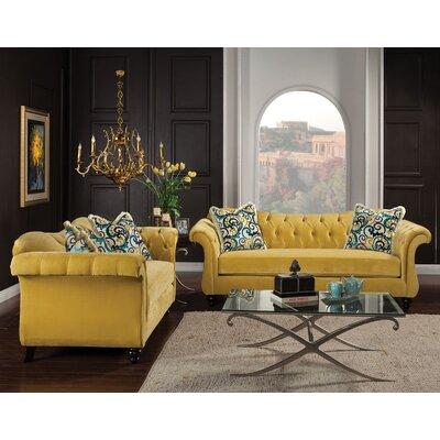Rosdorf Park Living Room Set Upholstery Royal Yellow