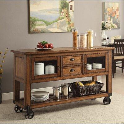 Loon Peak Wooden Kitchen Cart