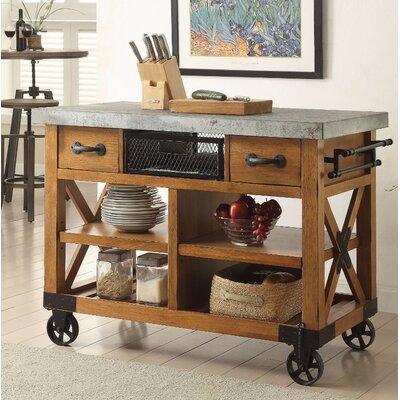 Loon Peak Wood Kitchen Cart