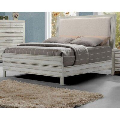 Highland Dunes Upholstered Panel Bed King