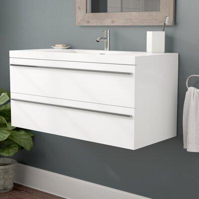 Foundry Select Wall Mounted Single Bathroom Vanity Set Base White