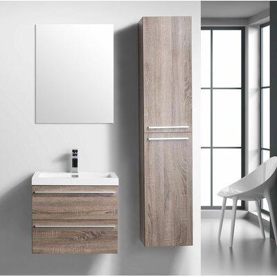 Foundry Select Wall Mounted Single Bathroom Vanity Base Soft Oak