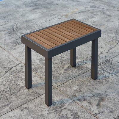 The Outdoor Great Room Aluminum Teak Picnic Bench