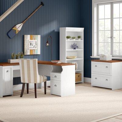 Beachcrest Home Desk Office Suite Antique White