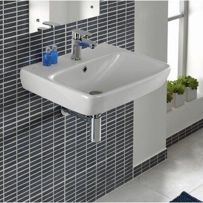 Bissonnet Rectangular Wall Mount Bathroom Sink Overflow