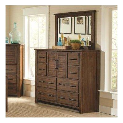 Loon Peak Drawer Combo Dresser Mirror