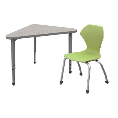 Classroom Desk Chair Set Wood Adjustable Height Triangle