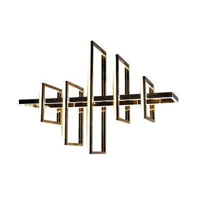 Everly Quinn Gilder Led Geometric Pendant