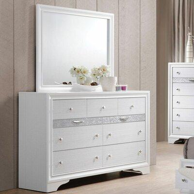 Ivy Bronx Drawer Double Dresser Mirror White