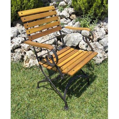 Furniture Designhouse Folding Teak Patio Dining Chair Arms
