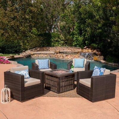 Gracie Oaks Bill Rattan Conversation Set Cushions