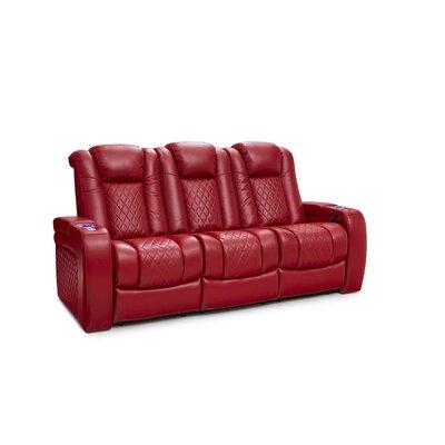 Latitude Run Home Theater Sofa Upholstery Red