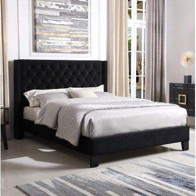 Brassex Upholstered Platform Bed