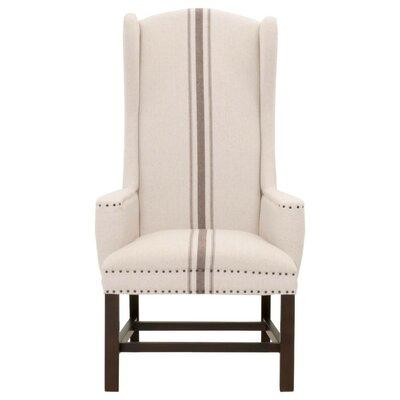 Gracie Oaks Wingback Chair Upholstery Beige Gray