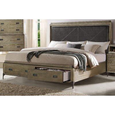Gracie Oaks Upholstered Storage Panel Bed