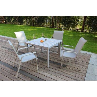 Ebern Designs Dining Set White