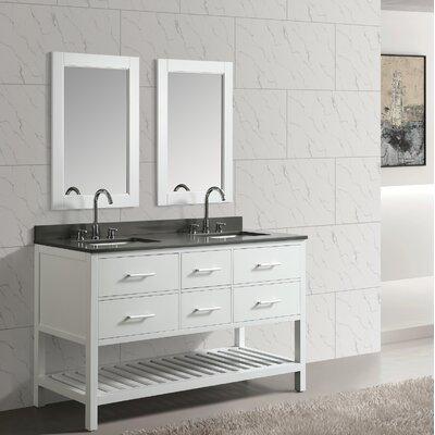 Ebern Designs Double Bathroom Vanity Set Mirror