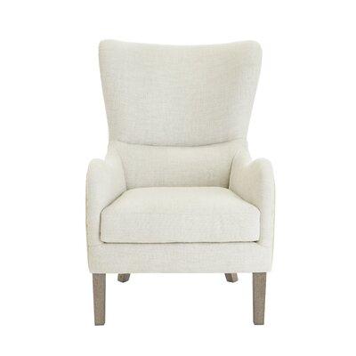 Elle Decor Wingback Chair Decor Two Toned Beige