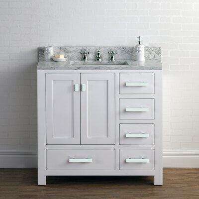 Ebern Designs Cashmere Single Bathroom Vanity Set Base White