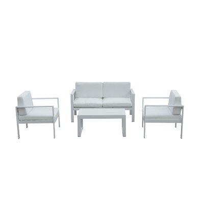 Orren Ellis Enchanting Modish Sofa Seating Group White Frame White