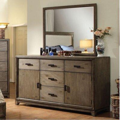 Union Rustic Drawer Combo Dresser Mirror