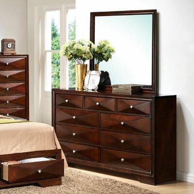 Ivy Bronx Drawer Dresser Mirror