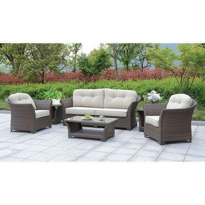 August Grove Sofa Seating Group Cushions Frame Dark Brown Cushion Ivory