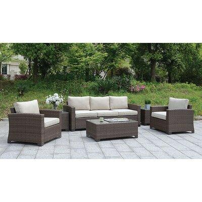 Gracie Oaks Sofa Seating Group Cushions Frame Dark Brown Cushion Ivory
