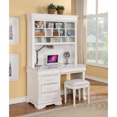 Harriet Bee Computer Desk Hutch Chair Set