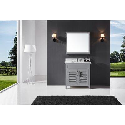 Highland Dunes Single Bathroom Vanity Set Mirror Base Taupe Gray