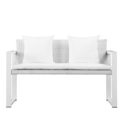 Ivy Bronx Ultra Upholstered Anodized Aluminum Loveseat Cushion