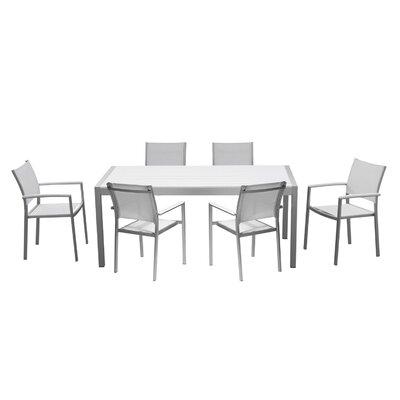 Orren Ellis Aluminum Outdoor Dining Set