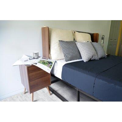 George Oliver Curve Queen Upholstered Panel Bed