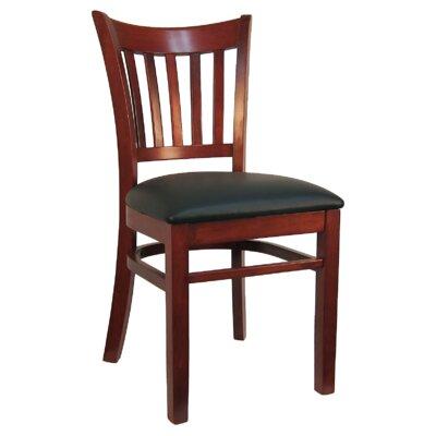 H D Restaurant Supply Vertical Back Wood Upholstered Dining Chair Set Restaurant