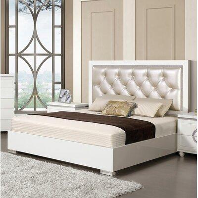 Orren Ellis Upholstered Panel Bed Queen