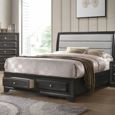 Ebern Designs Upholstered Storage Sleigh Bed